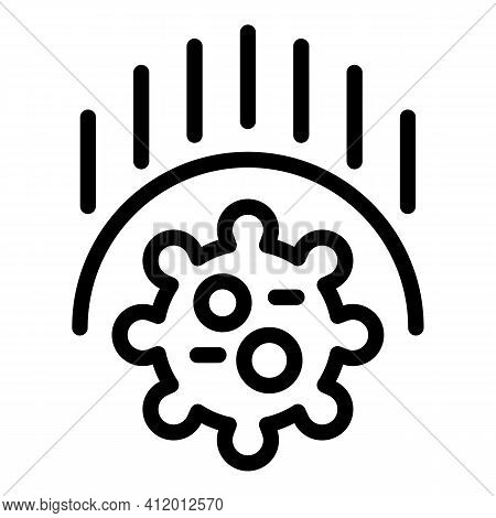 Antibacterial Defence Icon. Outline Antibacterial Defence Vector Icon For Web Design Isolated On Whi