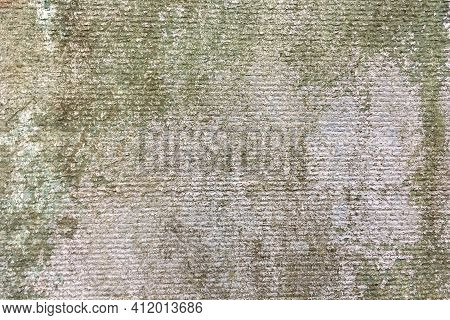 Gray Plaster. Ancient Weathered Wall With Gray Background Old Building. Old Concrete Wall. Abstract
