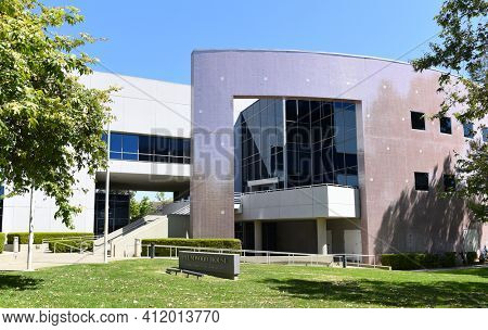IRVINE, CALIFORNIA - 22 APRIL 2020:  Plumwood House (Hitachi Chemical Research Center) on the Campus of the University of California Irvine, UCI.