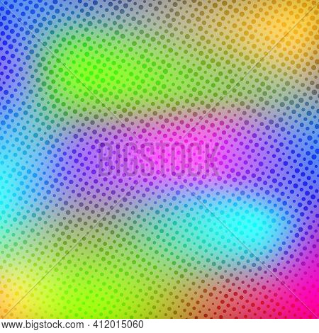 Pop Art Creative Concept Colorful Comics Book Magazine Cover. Polka Dots Colorful Background. Cartoo