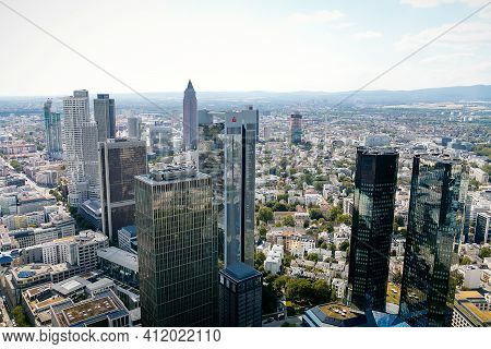 Panorama With Modern Skyscrapers, Aerial View From A Height Of 200 Meters, Observation Point At The
