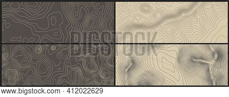 Grey Contours Vector Topography. Geographic Mountain Topography Vector Illustration. Topographic Pat