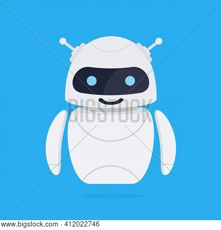 Chatbot Icon. Customer Support Service Chat Bot. Chatbot Robot Concept. Vector Illustration In Flat