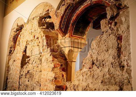 Gothic And Renaissance Castle Interior In Hohensalzburg Fortress Museum, Twelfth-century Romanesque