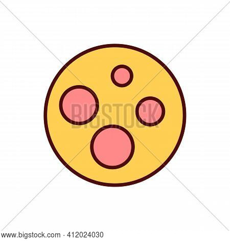 Numerous Moles Rgb Color Icon. Skin Cancer Risk. Cancerous Cells Chance Development. Genetic Factor.