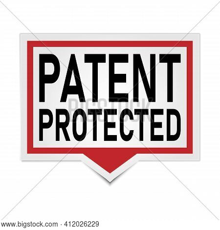 Patent Protected 3d Square Isolated Speech Bubble