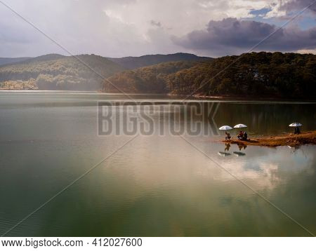 Amazing view of Tuyen Lam Lake, Dalat, Vietnam