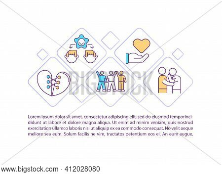 Community Support Concept Icon With Text. Love And Acceptance. Religious Compassion. Mental Health.