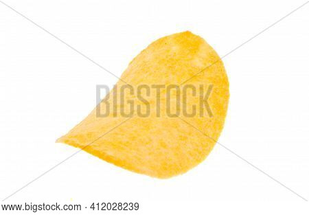 Crunchy Potato Chips Isolated On White Background
