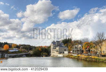 A Scene Of Elora, Ontario, Canada On A Beautiful Fall Day