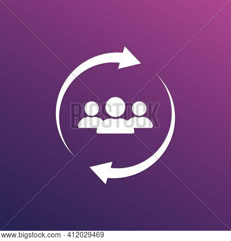 Customer Service And Care Concept. Customer Retention Icon. Attract Clients, Customer Support And Se