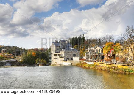 A Elora, Ontario, Canada View On A Beautiful Autumn Day