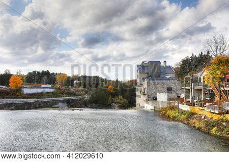 An Elora, Ontario, Canada Scene On A Beautiful Autumn Day
