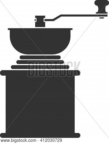 Vector Icon Of A Coffee Grinder For Grinding Coffee Beans.