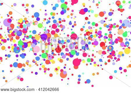 Light Multicolor Background, Colorful Vector Texture With Circles. Splash Effect Banner. Glitter Sil