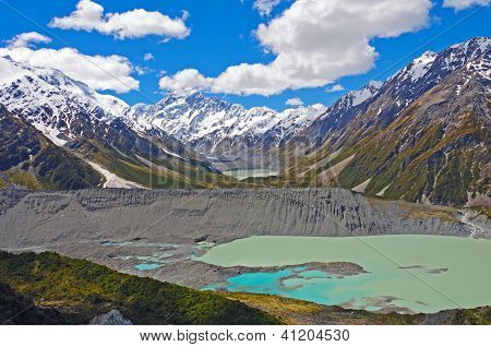 Spectacular Alpine Vista In New Zealand