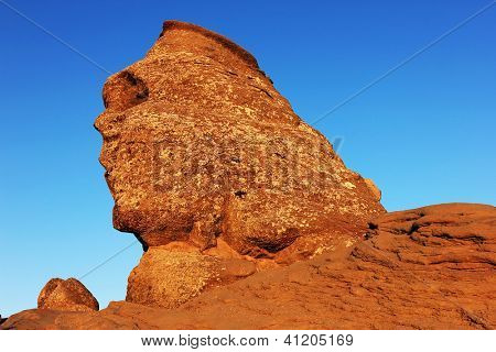 Romanian Sphinx, geological phenomenon formed through erosion