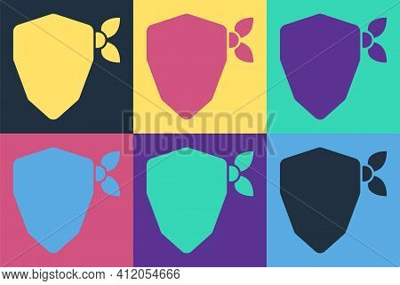 Pop Art Vandal Icon Isolated On Color Background. Vector