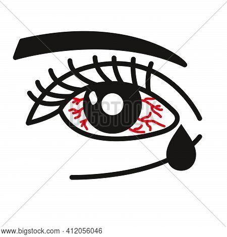 Inflammated Eye Conjunctivitis Or Pink Eye Icon
