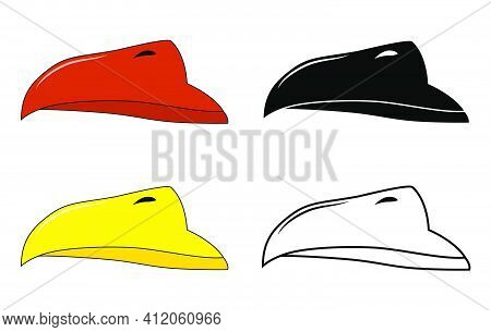 Beak Of Bird Vector Set. Illustration Isolated On White Background. Collection Contains Silhouette,o