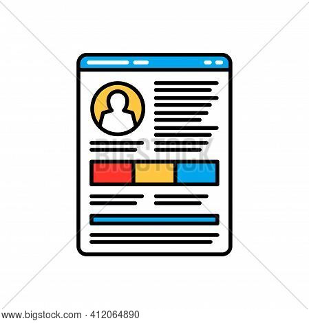 Social Profile Isolated Personal Data Protection And Security Icon. Vector Gdpr Protection And Regul