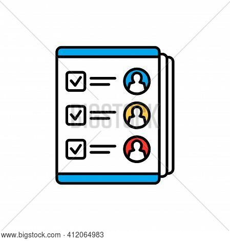 Political Views Gdpr Personal Data Protection And Regulation Icon Of Voting Ballot. Vector Internati