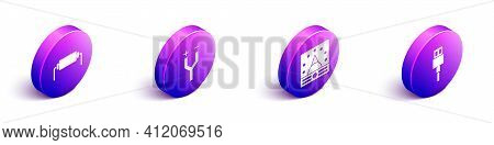 Set Isometric Resistor Electricity, Electric Cable, Ampere Meter, Multimeter, Voltmeter And Usb Cabl