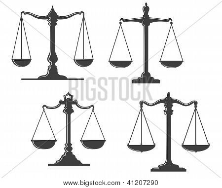 Vintage justice scales