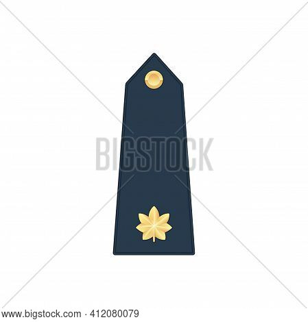 Lieutenant Commander Military Stripe Isolated Insignia Icon. Vector Marine Major Navy Officer Comman