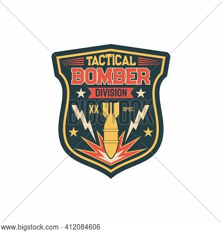 Aviation Bomber Jet Fighter, Bombing Aircraft, Patch On Non-commissioned Officers Uniform With Falli