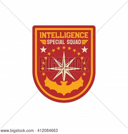 Intelligence Special Squad Navy Marine Maritime Forces Isolated Patch On Military Officer Uniform. V