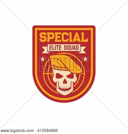 Elite Special Squad Navy Marine Maritime Or Aviation Forces Isolated Patch On Military Officer Unifo