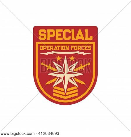 Maritime Special Squad Navy Marine Forces Isolated Patch On Military Uniform With Windrose And Cross