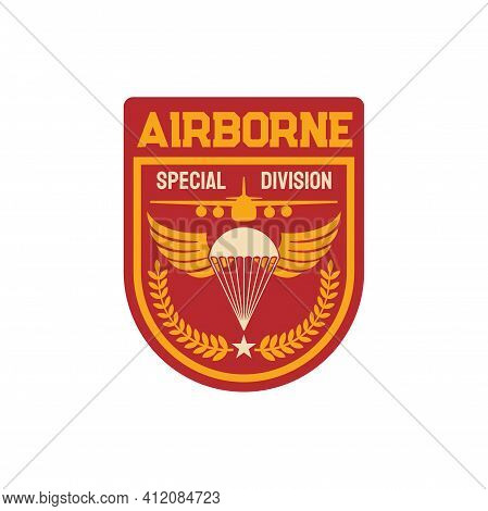 Airborne Special Division Isolated Military Chevron, Parachuting Skydiving Aviation Forces Patch On