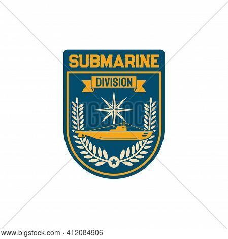 Naval Maritime Operations Chevron Of Submarine Division Special Squad Isolated Army Officer Patch On