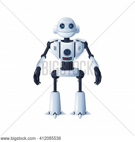 Android Robot Isolated Cyborg Artificial Intelligent. Vector Futuristic Humanoid, 3d Automatic Smart