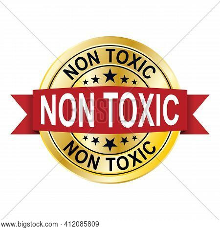 100 Perzent Non Toxic. Chemical Free Icon Illustration