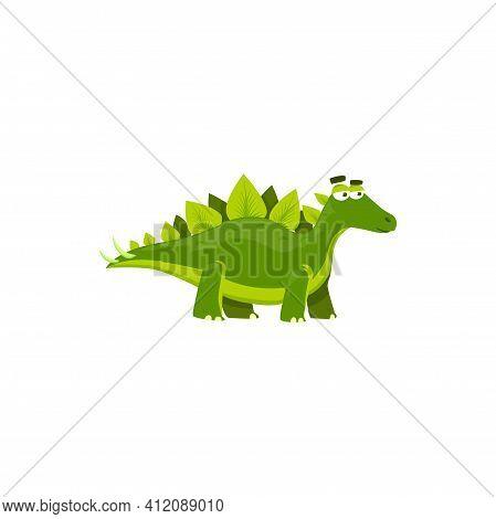 Stegosaurus Stenops Isolated Cartoon Kids Toy. Vector Dino Ungulatus And Sulcatus, Ancient Lizard. S