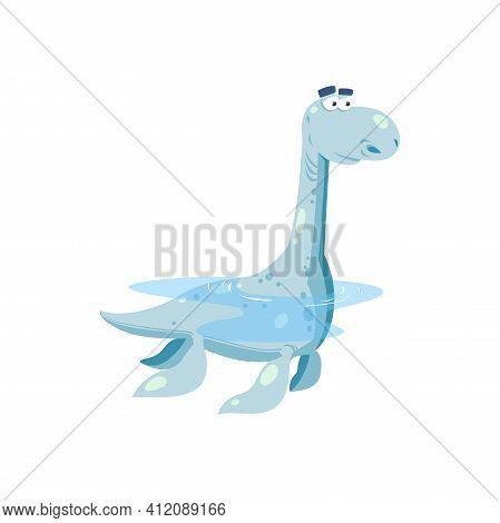 Amphibian Erythrosuchids Crocodile Large Basal Dinosaur Isolated Icon. Vector Archosaur Form Carnivo