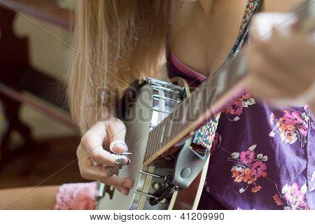 Girl Playing Banjo