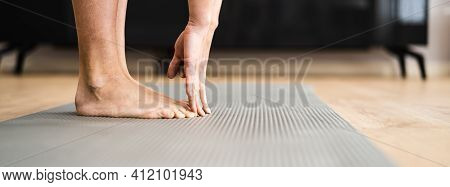 Woman Doing Fitness Stretching Test. Tight Hamstrings