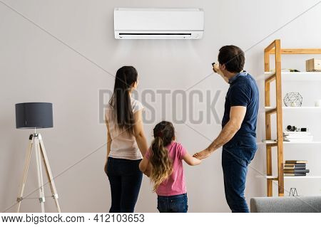Air Condition Or Conditioner In Living Room