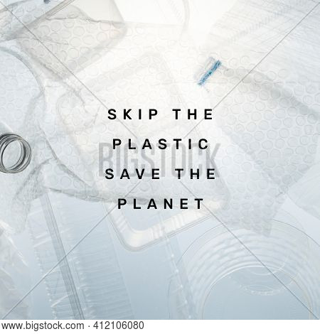 Plastic pollution quote social media post