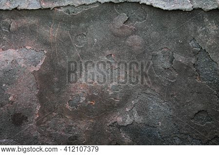 Burnt Metal. Soot And Fumes On A Metal Barrel. Black Soot After A Fire.