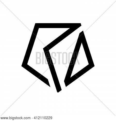 Initial Letter Rd Logo Template With Geometric Pentagonal Illustration In Flat Design Monogram Symbo