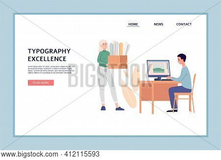 Design For Web Of Printing House, Publishing Or Advertising Agency