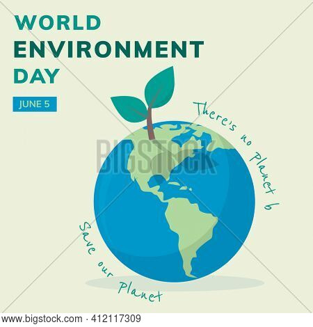 Save the planet social media post for world environment day