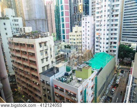 Hong Kong, Hong Kong - November 09, 2012: Hong Kong Skyscrapers, Hong Kong