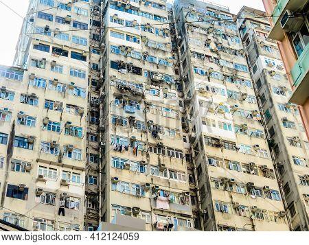 Hong Kong, Hong Kong - November 03, 2012: Hong Kong Skyscrapers, Hong Kong
