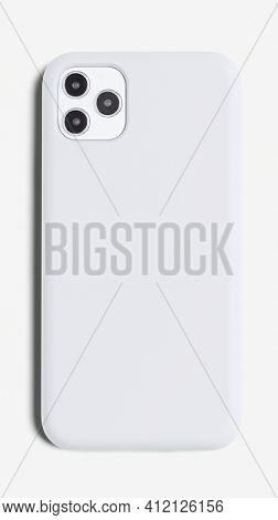 White smartphone case mockup product showcase